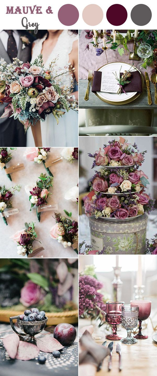 Beautiful Wedding Quotes About Love Mauvepurple And Grey Vintage Wedding Colors Ideas