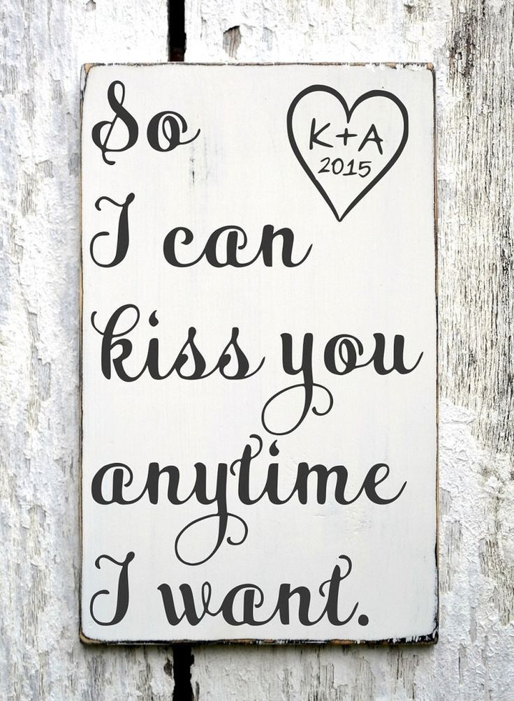 Beautiful Wedding Quotes About Love Personalized Sign