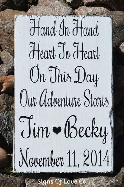 Beautiful Wedding Quotes About Love : Wedding Signs