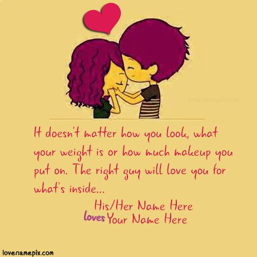 Cutest Love Quotes Custom Love Quotes For Her Write Couple Name On Sweet Cutest Love Quotes