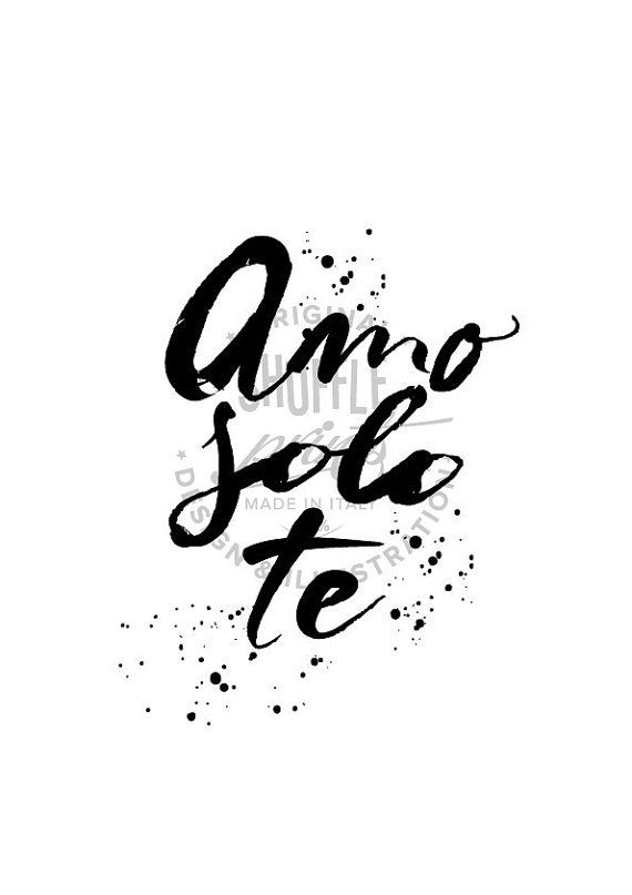 Italian Quotes About Life Enchanting Quotes About Soulmates  'amo Solo Te' Italian Quote In English I