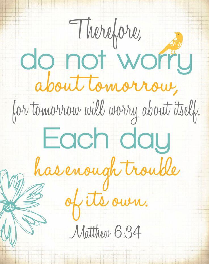 Quotes Of The Day U2013 Description. Bible Verse Print U2013 (Matthew ...