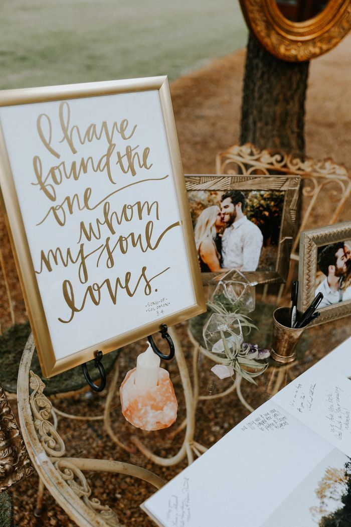 Beautiful wedding quotes about love : Organic decor for guestbook ...