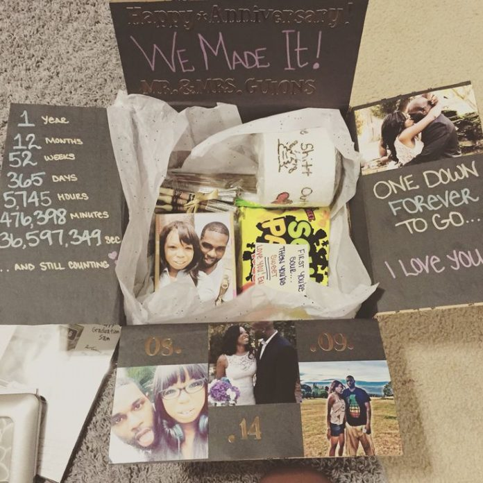 Long Distance Love Quotes One Year Anniversary Care Package