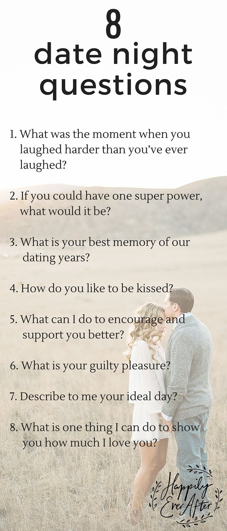 "questions to ask while dating christian Some call it ""missionary dating,"" which is the process of trying to convert an unbeliever while dating him or her though evangelistic affection may sound noble, the idea is flawed in several ways 1 a christian cannot overpower a non-christian's free will and force him or her to accept christ 2."