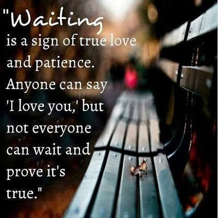 Long Distance Quotes : Waiting is a sign of true love  I