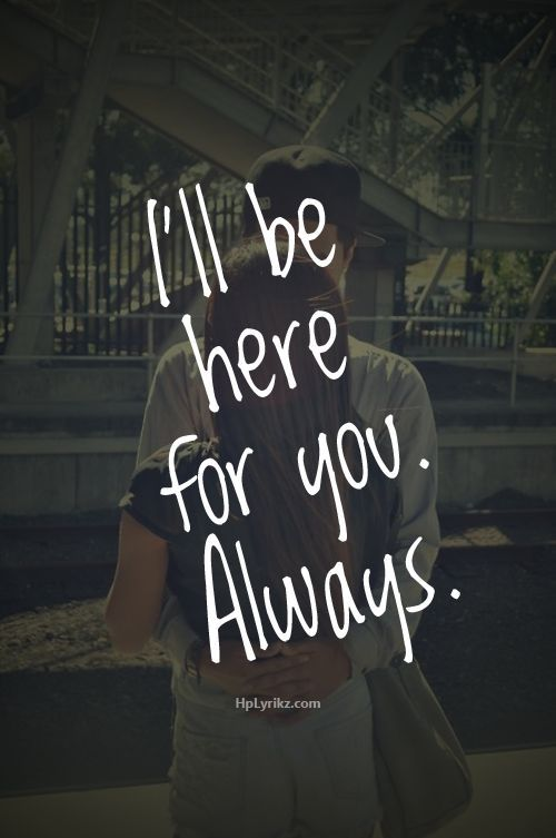 I Am Always There For You Love Quotes Bahuma Sticker