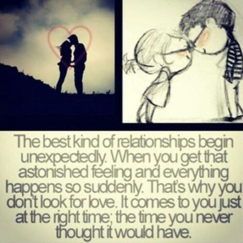Love Quotes For Her Love Happens When You Least Expect It