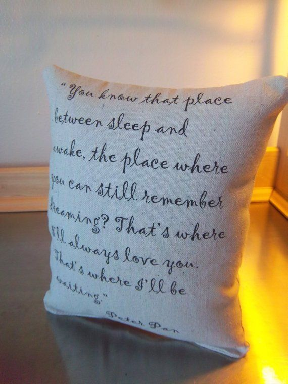 Love quotes for her peter pan pillow cotton throw pillow 2nd love quotes negle Choice Image