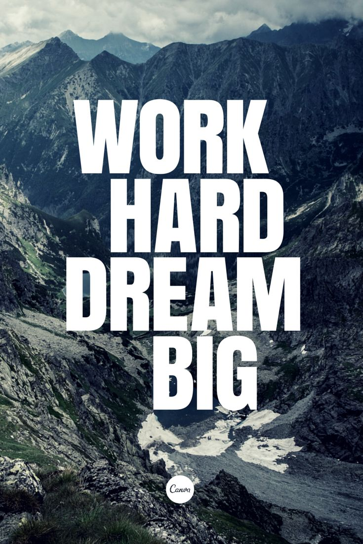 Dream Quotes Quotes About Life  Work Hard Dream Big… Quotess  Bringing