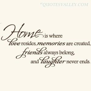 Quotes On Home Best Quotes About Love  Homeiswhereloveresidesmemoriesare
