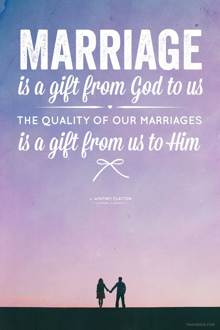 Christian Marriage Quotes Delectable Quotes About Love  Marriage Is A Gift From God To Usthe Quality