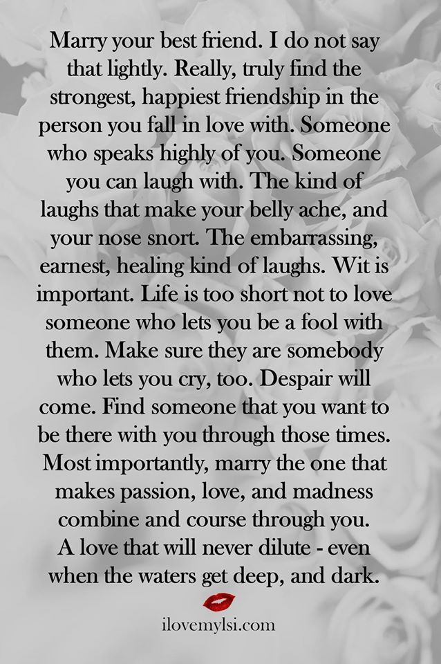 Best Friend Love Quotes | Quotes About Love Marry Your Best Friend Source love
