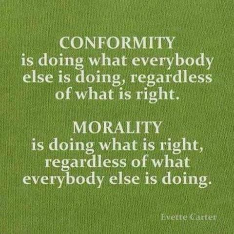 Quotes About Wisdom Conformity Is Doing What Everybody Else Is