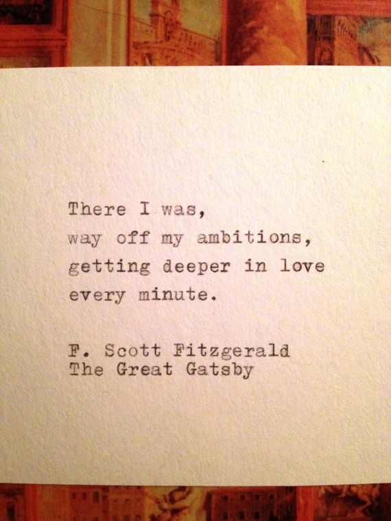 Quotes From The Great Gatsby Enchanting Top Quotes About Love  The Great Gatsby Quote Typed On Typewriter