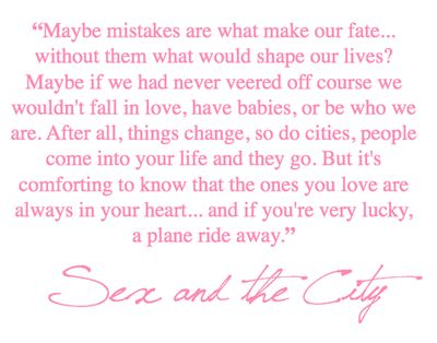 Sex and the city family quote