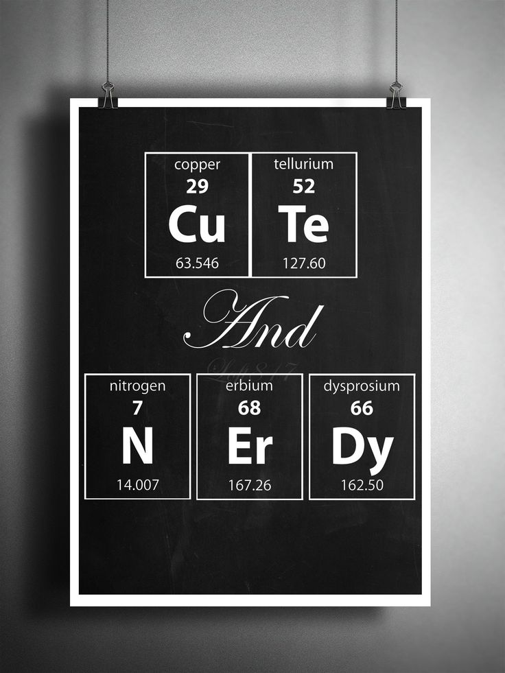 Love quotes for her cute and nerdy periodic table art for Table quotes