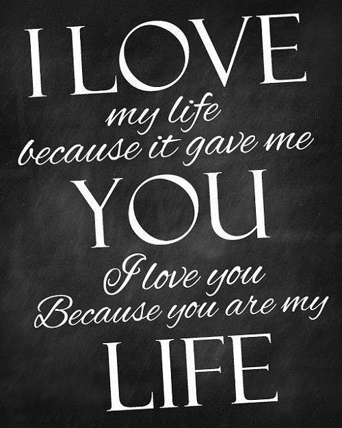 Images Love Quotes Adorable Love Quotes For Her I Love My Life Love Quotes For Her…  Quotess