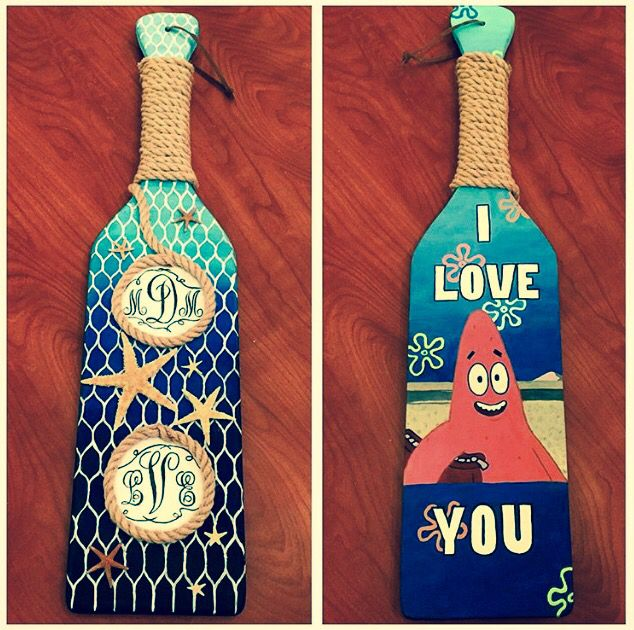 love quotes for her  sorority paddle hand painted with acrylics for my big  her monogram on top