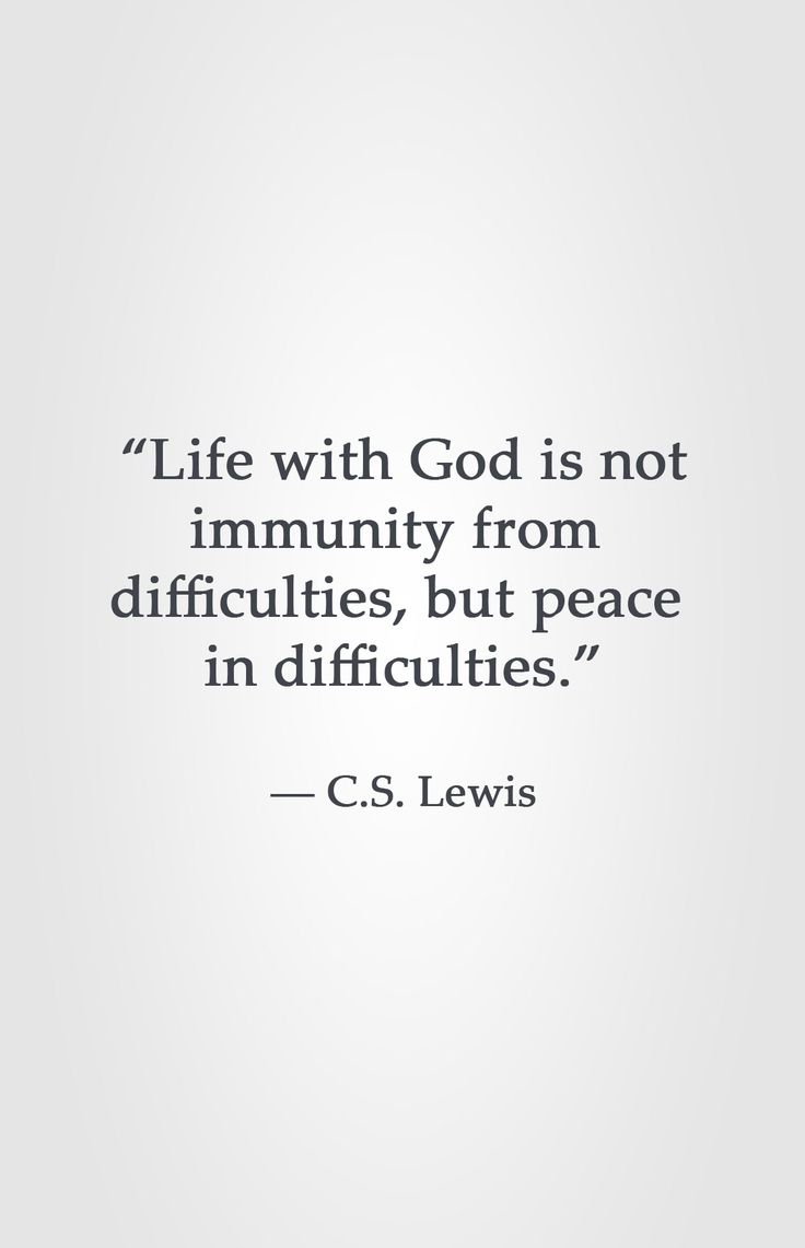 "Peace Quotes Quotes About Life  ""life With God Is Not Immunity From"