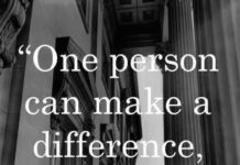 One Can Make A Difference!