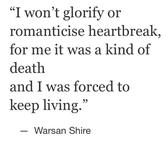 Top Quotes about Love : Warsan Shire... - Quotess | Bringing ...