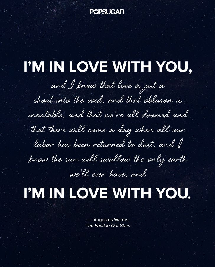 Stars Love Quotes Fair Love Quotes For Her Augustus Waters The Fault In Our Stars