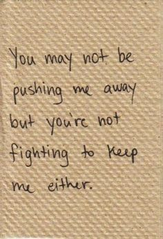not fighting in a relationship