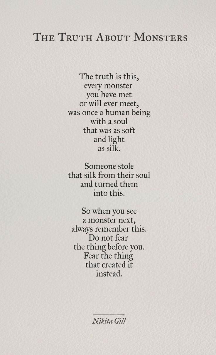 """The Truth Of Life Quotes Fascinating Quotes About Life  """"the Truth About Monsters""""nikita Gill From"""