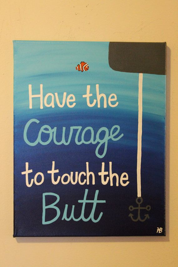 Work Quotes This Finding Nemo Disney Inspired Canvas Is A Fun