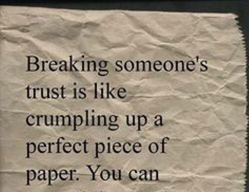 when trust is gone quotes
