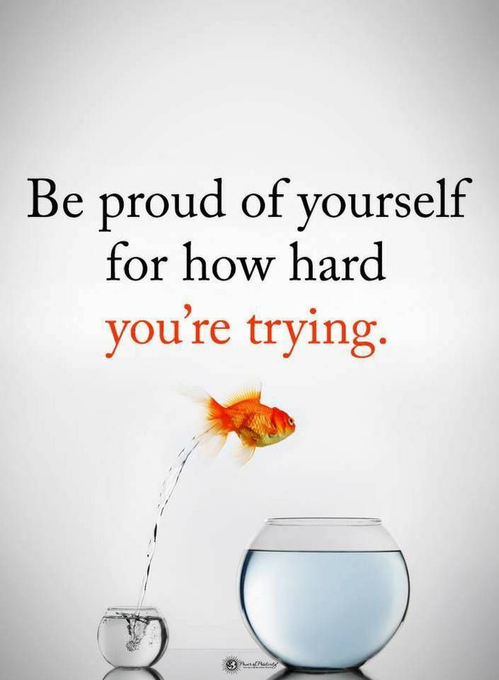 proud of yourself