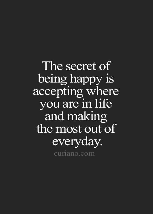 The Secret Quotes Glamorous Strength Quotes  The Secret Of Being Happy Is Accepting Where You