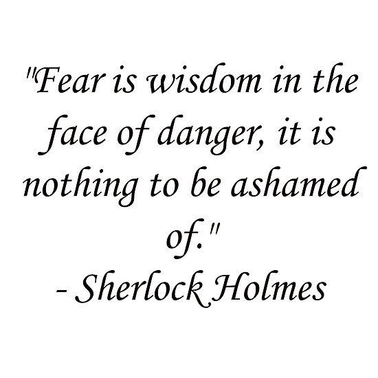 Image result for Fear is wisdom in the face of danger