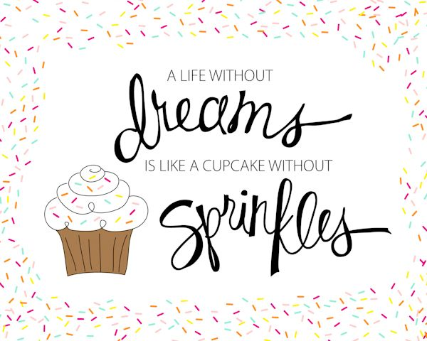 Positive Quotes : A life without dreams is like a cupcake ...