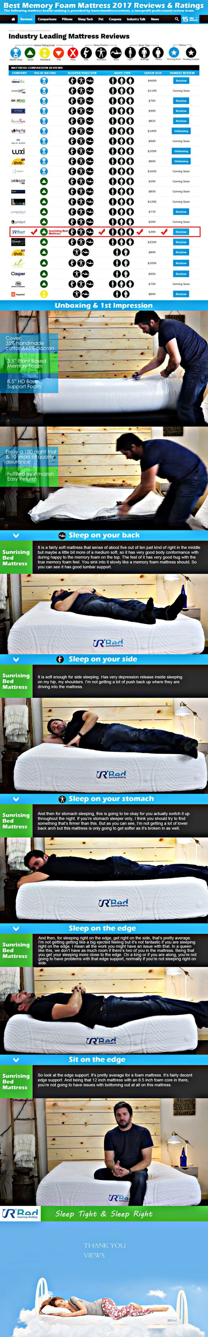 Quotes About Life Best Memory Foam Mattress 2017 Reviews Ratings Sleep Bed Mattress