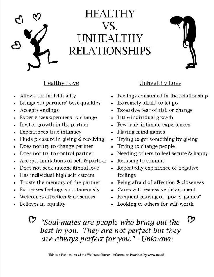 healthy and unhealthy relationship styles