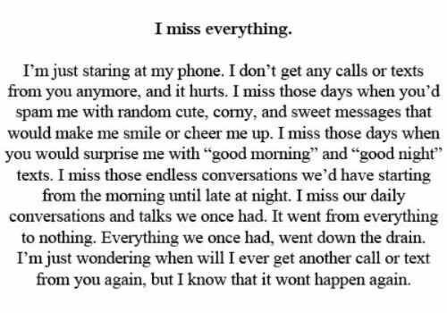 Quotes About Missing I Miss Everything I Just Finished Another