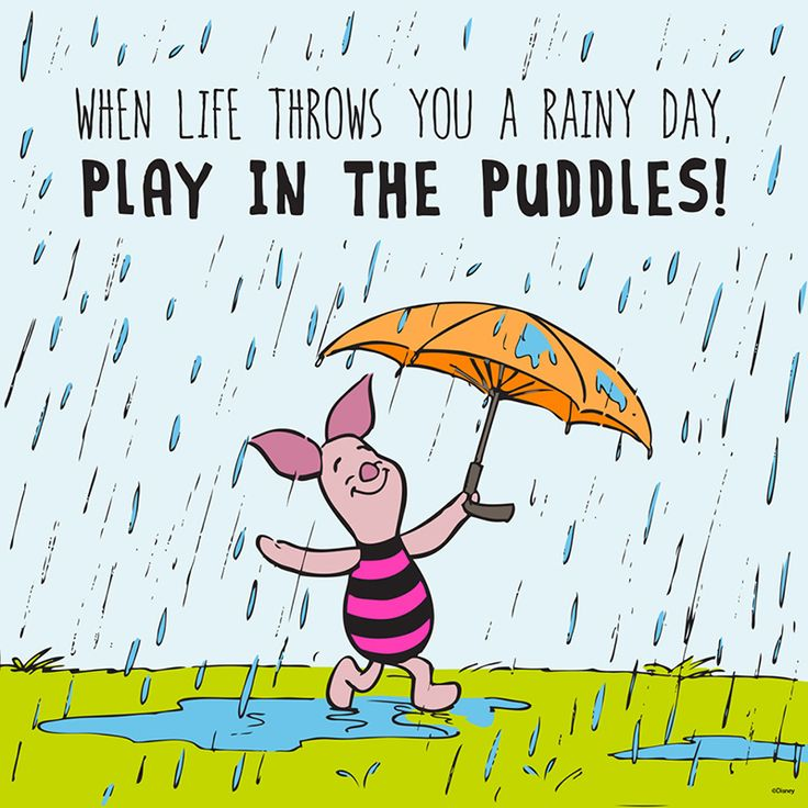 Funny Quotes About Rainy Days: Positive Quotes : Piglet Winnie The Pooh Quotes