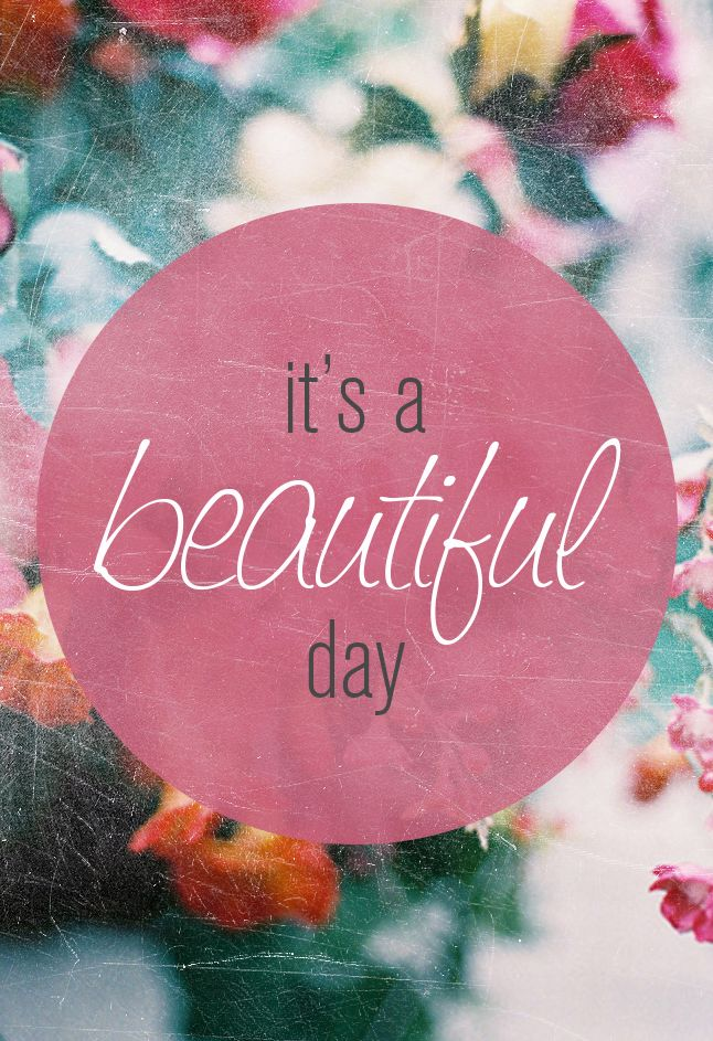 Positive Quotes Monday Quote Its A Beautiful Day Mis Candle