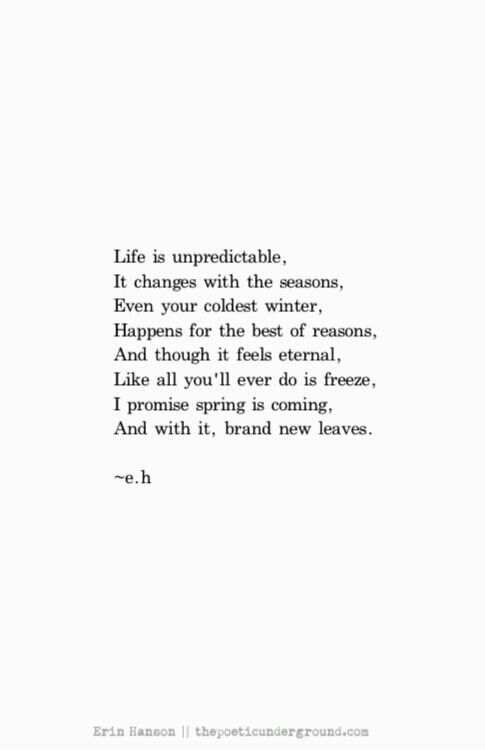 Seasons Of Life Quotes Classy Strength Quotes  Life Is Unpredictable It Changes With The