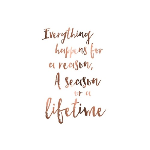 Life Quote Everything Happens For A Reason A Season Or A Lifetime