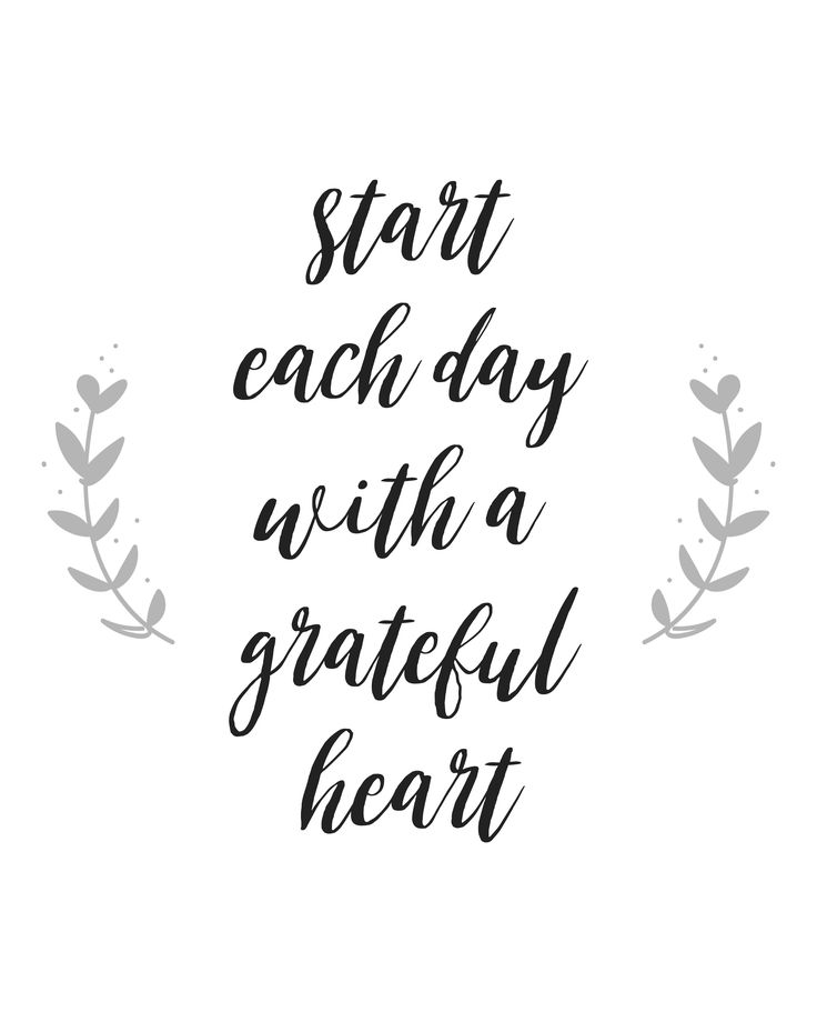 Quotes About Life Start Each Day With A Grateful Heart Quote