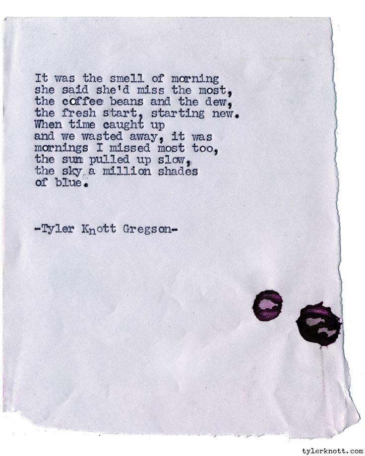 quotes about missing typewriter series by tyler knott