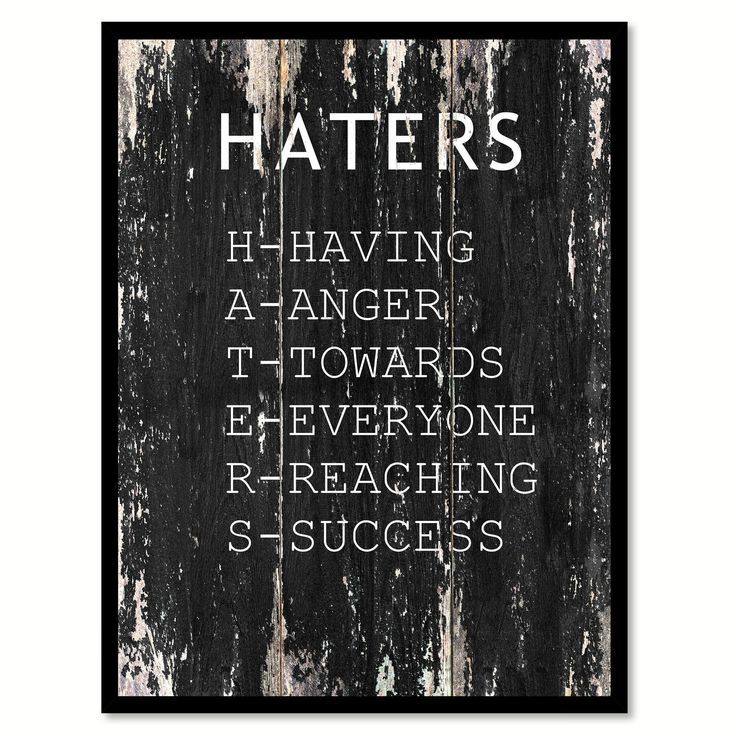Quotes About Success Haters Motivational Quote Saying Canvas Print