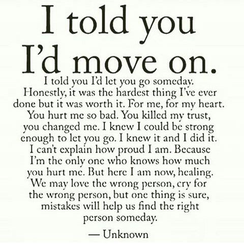 Quotes On Moving On | Moving On Quotes I Told You I D Move On Middlebackpain Quotess