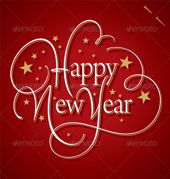 new year s quotes happy new year hand lettering vector by